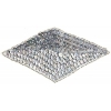 Beaded Motif Sequin Lazar Sil.   Silver Diamond Shape